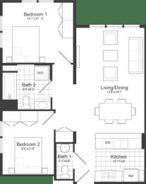 Floor Plan at Park87, Cambridge, MA