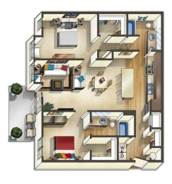 Vermont Floor Plan at The Trails at Timberline, Fort Collins