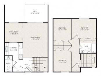 Floor Plan 3 Bedrooms