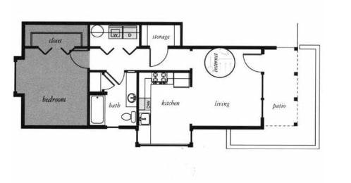 Burnside Floorplan at Russellville Commons, Portland, OR, 97216