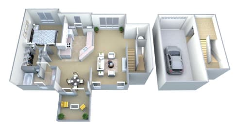 Walton Centennial Carriage House Floor Plan, Roswell GA