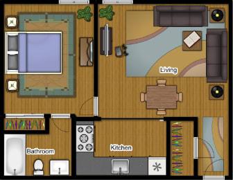 1 Bedroom 1 Bath