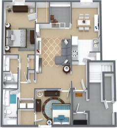 Floor Plan 2BR,2BTH