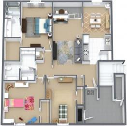 Floor Plan 3BR,2BTH