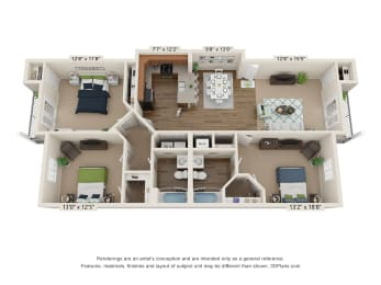 Ardmore Cates Creek 3 Bedroom, 2 Bathroom Floor Plan