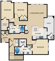 Floor Plan Three Bedroom H2GG