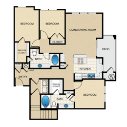 Floor Plan Three Bedroom H3G