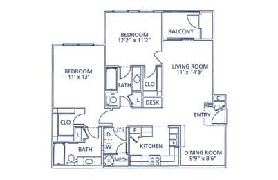 Lafayette Floor Plan at Berkshire at Citrus Park, Tampa, FL