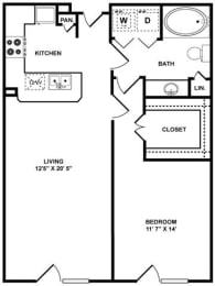 A2 Floor Plan at The Plaza Museum District, Houston