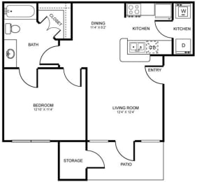A1 Floor Plan at Stoneleigh on Spring Creek, Garland, TX, 75044
