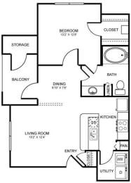 A3 Floor Plan at Stoneleigh on Spring Creek, Garland, 75044