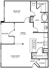 A6 Floor Plan at Stoneleigh on Spring Creek, Texas