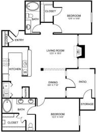 D4 Floor Plan at Stoneleigh on Spring Creek, Garland, 75044