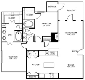 D7 Floor Plan at Stoneleigh on Spring Creek, Texas