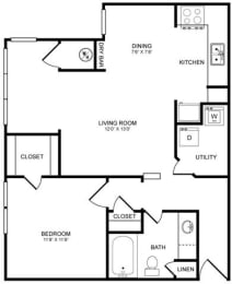 A2S Floor Plan at Highlands Hill Country, Austin
