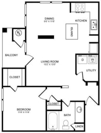 A3 Floor Plan at Highlands Hill Country, Texas