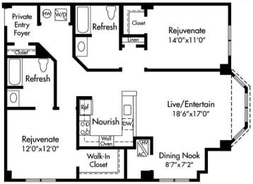 D4 ADA Floor Plan at HighPoint, Quincy, MA, 02169