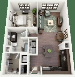 Addington Floor Plan at Berkshire Ninth Street, North Carolina