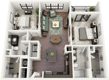Bryson Floor Plan at Berkshire Ninth Street, Durham, NC, 27705