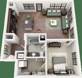 Bullington Floor Plan at Berkshire Ninth Street, Durham, NC