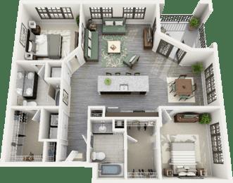 Fairview Floor Plan at Berkshire Ninth Street, Durham, 27705