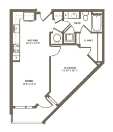 A8 Floor Plan at Berkshire Terminus, Atlanta, Georgia