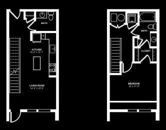 A16 Floor Plan at Berkshire Terminus, Georgia