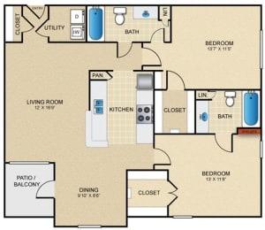 D1 Floor Plan at Estates at Bellaire, Houston