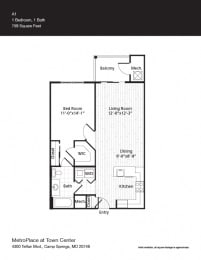 Cleveland Floor Plan at Metro Place at Town Center, Camp Springs, 20746