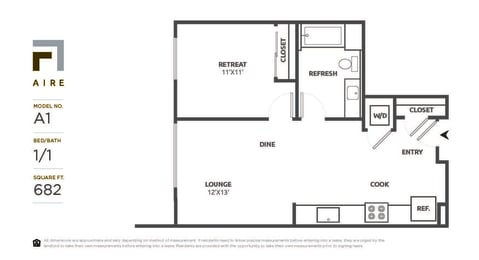 A1 Floor Plan at Aire, California