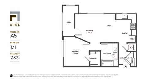 A5 Floor Plan at Aire, California, 95134
