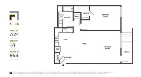 A24 Floor Plan at Aire, San Jose, California