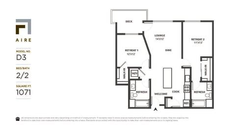D3 Floor Plan at Aire, California, 95134