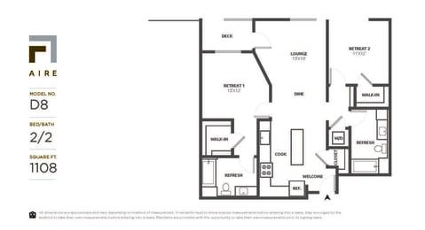 D8 Floor Plan at Aire, San Jose
