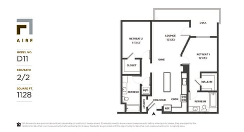 D11 Floor Plan at Aire, California