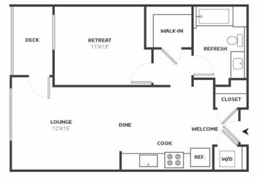 A8 Floor Plan at Aire, San Jose, CA