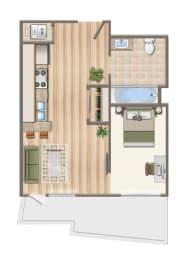 Floor Plan  Jr1x1N-202