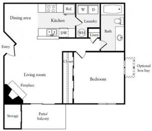 Floor Plan  One Bedroom One Bathroom