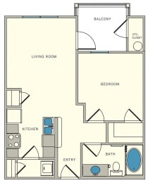 one bed, one bath, The Lookout at Comanche Hill   Unit A2 - one bed, one bath, at CLEAR Property Management , The Lookout at Comanche Hill Apartments, 78247