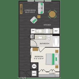 Floor Plan  Floorplan at Midtown Houston by Windsor, Houston, TX 77002