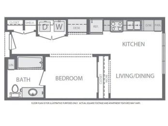 Floor Plan  Floorplan at Windsor at West University, 2630 Bissonnet Street, Houston, TX