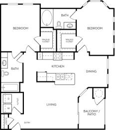 The Azure Floorplan at Azure Villas, Las Vegas, NV, 89081