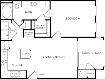 The Cobalt Floorplan at Azure Villas, Las Vegas, NV, 89081