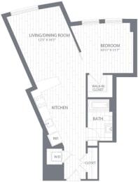 A1 Floor Plan at Element 28, Bethesda