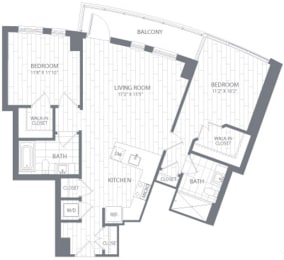 B1 Floor Plan at Element 28, Bethesda, MD