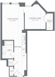 S2 Floor Plan at Element 28, Bethesda, MD, 20814