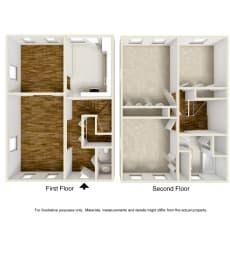 Floor Plan 3 Bed Townhouse