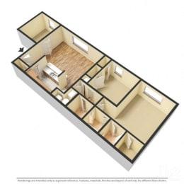 Floor Plan Ivy - 2 Bedroom with Den