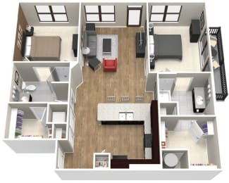 The Kingsland Floor Plan at Artisan on 18th, Tennessee, 37203