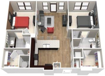 The McAlester Floor Plan at Artisan on 18th, Nashville, TN